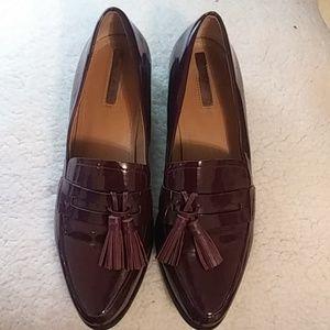 Tahari maroon loafers